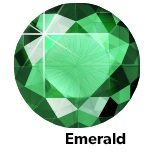 Rhinestones Emerald SS10-0