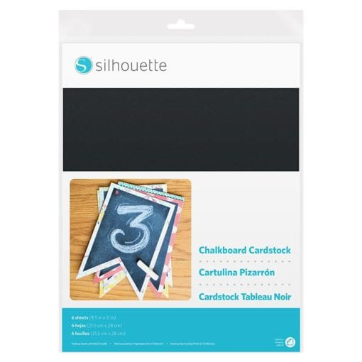 Silhouette Chalkboard Cardstock-Adhesive Back-0