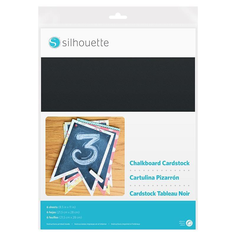 Silhouette Chalkboard Cardstock-Adhesive Back-0