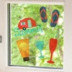 Silhouette Window Cling Material-1442