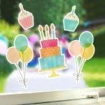 Silhouette Window Cling Material wit-1446