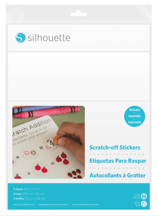 Silhouette Printable Scratch-off sticker vellen-0