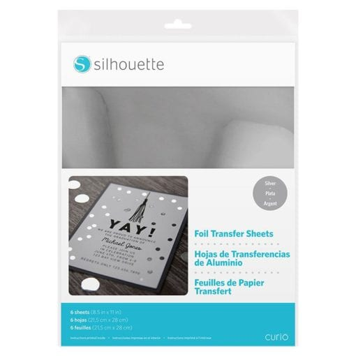 Silhouette Foil Transfer Sheet Silver-0
