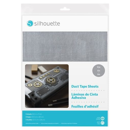 Silhouette Duct Tape Sheets Grey-0