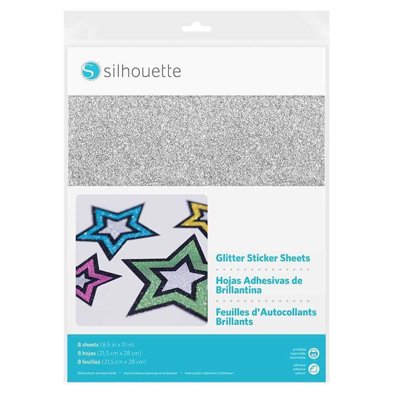 Silhouette Sticker Paper Glitter-0