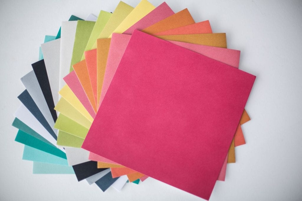 Adhesive cardstock colors
