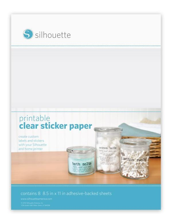 Silhouette Clear printable paper
